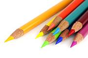 Multicolored Drawing Posters - Colored pencils Poster by Blink Images