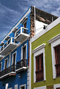 Puerto Rico Photo Prints - Colores del Edificio Print by John Rizzuto