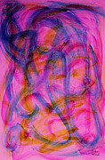 Fushia Prints - Colorful Abstract Print by Natalie Holland