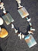 Colorful Jewelry - Colorful Agate Necklace by Angie DElia