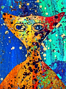 Extraterrestrial Framed Prints - Colorful Alien Framed Print by Carol Leigh