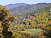Susan Leggett Prints - Colorful Autumn Valley Print by Susan Leggett