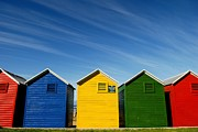 Fitting Room Prints - Colorful Beach House Print by Viktor Chan Photography