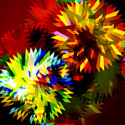 Meshed Digital Art Originals - Colorful Blade by Atiketta Sangasaeng