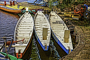 Chang Prints - Colorful boats  Print by John  Botha