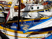 St.tropez Photo Prints - Colorful Boats Print by Lainie Wrightson