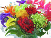 Colorful Bouquet Print by Kathy Moll