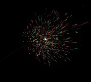 Colorful Burst Of Firecrackers High In The Sky Print by Ashish Agarwal