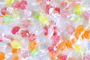 Drop Prints - Colorful Candies Print by Carlos Caetano