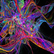 Disco Digital Art - Colorful Chaos by Andee Photography