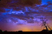 Timed Exposure Prints - Colorful Cloud to Cloud Lightning Print by James Bo Insogna