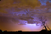 Timed Exposure Prints - Colorful Colorado Cloud to Cloud Lightning Thunderstorm 27 Print by James Bo Insogna