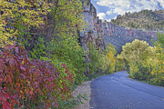 Autumn Prints Prints - Colorful Colorado Lyons Autumn Road Print by James Bo Insogna