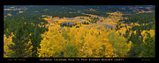 Autumn Prints Framed Prints - Colorful Colorado peak to Peak Autumn Scenic View Panorama Poste Framed Print by James Bo Insogna