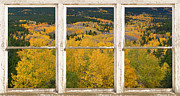 James Insogna Framed Prints - Colorful Colorado Picture Window Frame View Photo Art Framed Print by James Bo Insogna