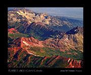 Aerial Art - Colorful Colorado Rocky Mountains Planet Art Poster  by James Bo Insogna