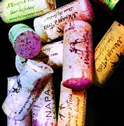 Grape Vineyards Prints - Colorful Corks Print by Cindy Edwards