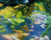 Diebenkorn Paintings - Colorful Creek by James Burpee
