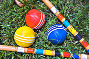 Susan Leggett Posters - Colorful Croquet Balls Poster by Susan Leggett