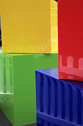 Arena Prints - Colorful cubes. Print by Gino Rigucci