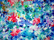 Plexiglass Painting Posters - Colorful Day Plexiglass Original Painting Poster by Sheila Katz