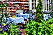 Outdoor Dining Prints - Colorful Dining Print by Debbi Granruth