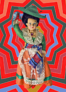 Susan Leggett Acrylic Prints - Colorful Doll Acrylic Print by Susan Leggett