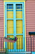 Knob Prints - Colorful Door Print by Ray Laskowitz