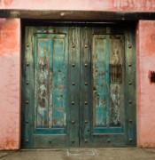 Colorful Doors Antigua Guatemala Print by Douglas Barnett
