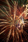 Displays Posters - Colorful Fireworks Poster by Garry Gay