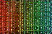 Repetition Photos - Colorful glass brick wall by Sami Sarkis