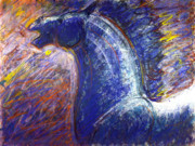 Wild Horses Pastels - Colorful horse by Nato  Gomes