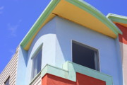 Interesting Architecture Posters - Colorful House in San Francisco Poster by Carol Groenen