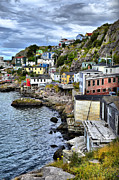 Newfoundland Prints - Colorful Houses Print by Steve Hurt