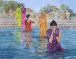 Namaste Paintings - Colorful India by Bonnie Sue Schwartz