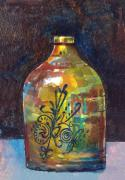 Jugs Painting Prints - Colorful Jug Print by Arline Wagner