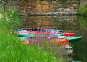 Kayaks Prints - Colorful Kayaks Print by Lori Seaman