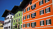Slalom Framed Prints - Colorful Kitzbuehel - Austria Framed Print by Juergen Weiss
