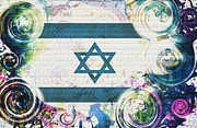 Colorful Land Of Israel Print by Jenn Bodro