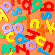 Write Prints - Colorful letters Print by Tom Gowanlock