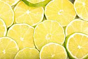 Citrus Fruits Posters - Colorful Limes Poster by James Bo Insogna