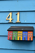 Mail Box Prints - Colorful Mail Box in St. John NewFoundland Print by Eva Kaufman