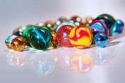Small Abstract Posters - Colorful Marbles Poster by Carlos Caetano
