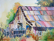 Old Barn Paintings - Colorful Old Barn by Michael Prout