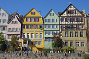 Picturesque Town Posters - Colorful old houses in Tuebingen Germany Poster by Matthias Hauser