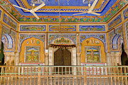 Hindi Metal Prints - Colorful Palace Interior Metal Print by Inti St. Clair