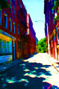 Store Fronts Art - Colorful Place to Live by Julie Lueders