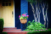 Blue House Posters - Colorful porch Poster by Toni Hopper
