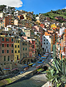 Lanis Rossi Prints - Colorful Riomaggiore Print by Lanis Rossi