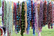 Hand Made Art - Colorful Scarfs by Yumi Johnson